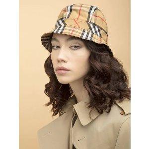 BurberryVINTAGE CHECK COTTON BUCKET HAT
