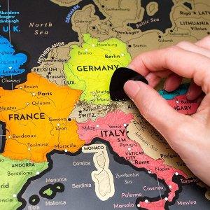 7.1折 封面款€16.99收W Wanderlust Maps 地图刮刮乐 记录你的每一个足迹