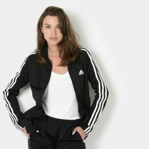 $21.53起(原价$80)2020跨年礼:adidas Trio19 女款运动夹克 灰色蓝色好价