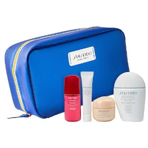 Shiseido价值$106 防晒30ml/精华10ml明星护肤套装
