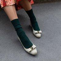 Salvatore Ferragamo 蝴蝶结有跟鞋