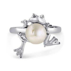 SuperJeweler青蛙淡水珍珠戒指