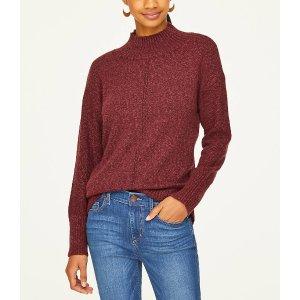 LOFT Outlet买一送一+满$100减$20高领毛衣 4色选