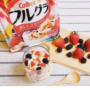 第2件半价,折合¥45/袋史低价:Calbee 进口即食水果麦片700g