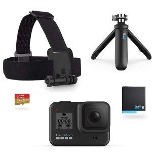 $399.99(原价$479)GoPro Hero 8 运动相机5件套 户外运动必备好帮手