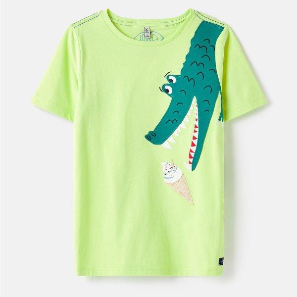 儿童贴布绣鳄鱼T恤