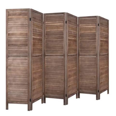 RHF 6 Panel 5.6 Ft Tall Wood Room Divider