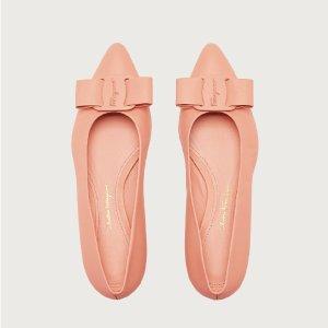 变相4折起 经典款$264收Ferragamo菲拉格慕 全场大促 收蝴蝶结单鞋、logo八字腰带