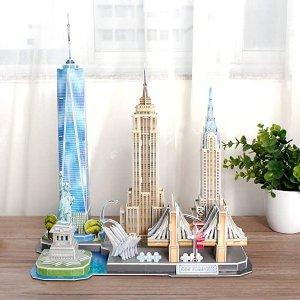 部分额外9折 $16.19起CubicFun 多款3D拼图特价,全家一起来拼世界地标建筑