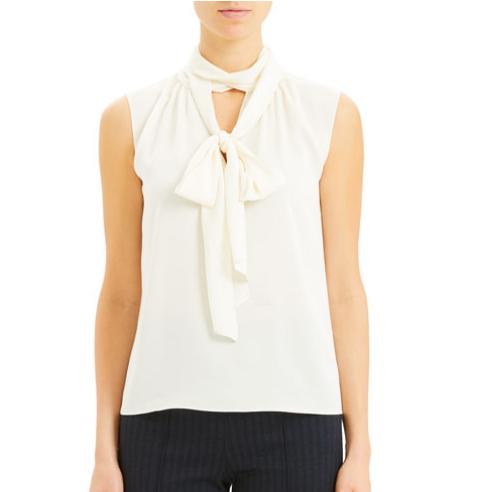 Core St. Silk 系带丝绸背心