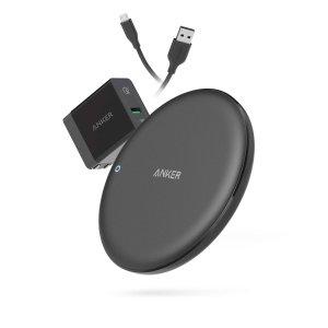 $36.99 (原价$49.99)Anker PowerWave 10W 无线快速充电板 + QC3.0 适配器