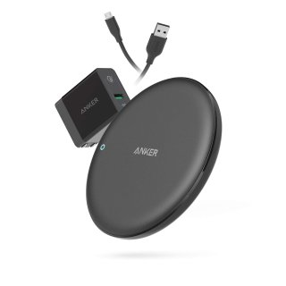 Anker PowerWave 10W Fast Wireless Charging Pad + QC3.0 Adapter