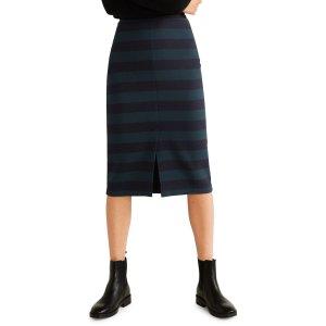 Mangous 8条纹铅笔裙