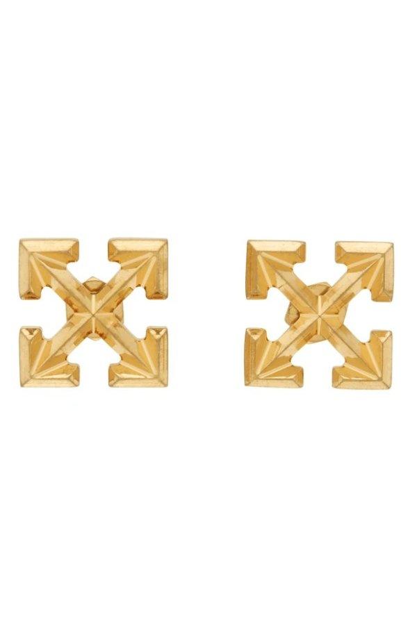 Gold Mini Arrow耳环