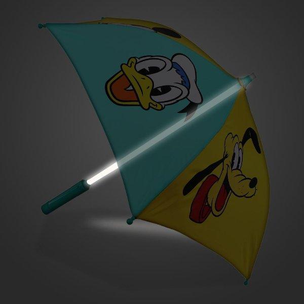 米奇和好友图案 雨伞 手柄可变色
