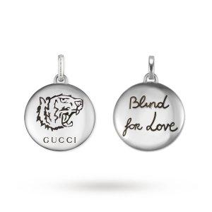 Gucci 银色吊坠项链