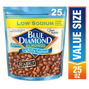 25oz大包装低盐仅$10.79Blue Diamond Almonds 美国大杏仁