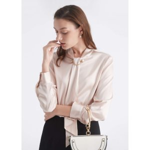 Take $15 off every$100Feminine Stand Collar Blouse