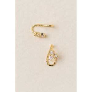Alepha Crystal Cuff Earrings