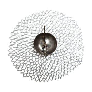 Chilewich镂空花朵造型银色餐垫