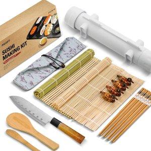 ISSEVE 竹制寿司卷制作套装  包括寿司刀、筷子等