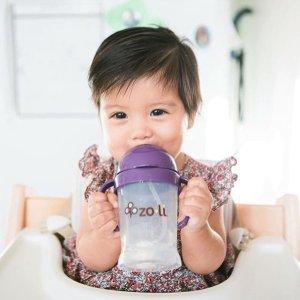 8折无税 躺着也能喝的吸管杯补货:Zoli 婴幼儿吸管杯、 餐具、辅食辅助工具等产品特卖