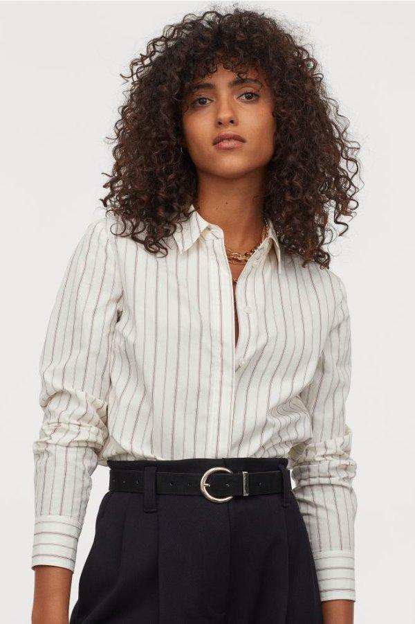 竖条纹衬衫