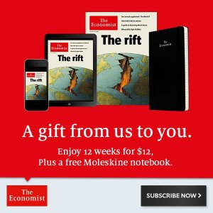 12 Weeks for $12 Free Moleskine Notebook @The Economist