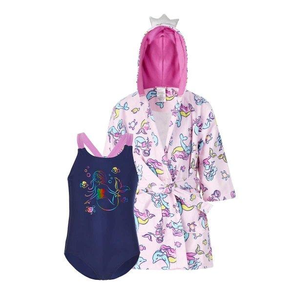 Saint Eve 儿童泳衣+美人鱼罩衣