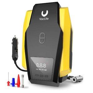 VacLife 便携数字汽车轮胎充气泵 终身保修