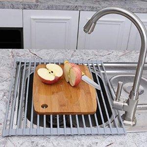 $20.59 (原价$24.99)InSptidy 洗碗池可折叠不锈钢晾干/沥水架