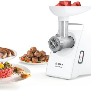 5.1折 €55.99(原价€109.99)黑五价:Bosch MFW3520W 绞肉机热卖 包子、饺子、馅饼轻松做