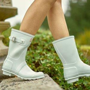 Hunter女款 薄荷绿雨靴