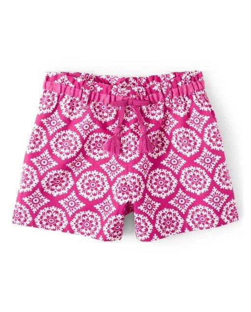女童印花短裤
