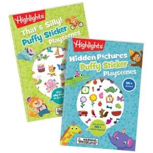 HighlightsPuffy Sticker Playscenes, Set of 2 | Highlights for Children