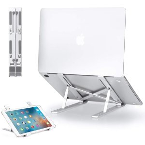 GIM Laptop Stand, Adjustable Aluminum Laptop Holder Riser Computer Tablet Stand