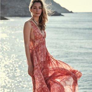 度假风仙女裙$49起Mango Chufy联名款夏季新品热卖 收波西米亚连衣裙