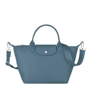 Longchamp可单肩可斜挎,超级实用!北欧蓝饺子包小号