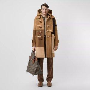 BurberryPanelled Wool Duffle Coat