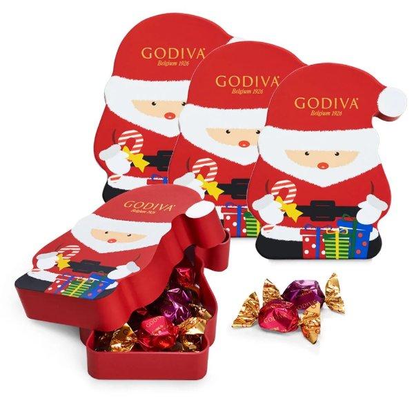 圣诞老人松露巧克力礼盒 4盒 每盒8颗
