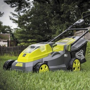 $187Sun Joe iON16LM 40 V 16-Inch Cordless Lawn Mower with Brushless Motor