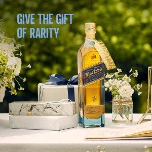 $185(原价$245)Johnnie Walker 蓝方苏格兰威士忌 700mL 礼盒装