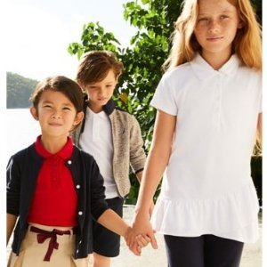 6折 有女童特别荷叶边Polo衫 $8.7起Nautica 返校季男女童Polo 衫、长裤、短裙、编织衫等优惠