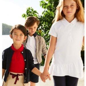 5折 有女童Polo衫 $$7.25起折扣升级:Nautica 返校季男女童Polo 衫、长裤等优惠