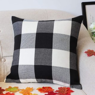 $9.084TH Emotion Black and White Buffalo Check Plaids Throw Pillow Case Cushion Cover
