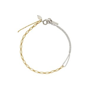 Justine clenquetSilver & Gold Jamie 拼接项链