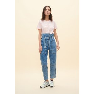 Claudie Pierlot系带牛仔裤