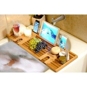 $19.99(原价$35.99)Royal Craft Wood 豪华竹制浴缸置物架