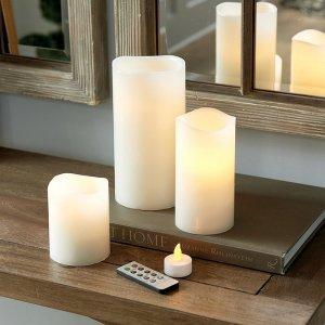 可遥控蜡烛灯 3x4 英寸