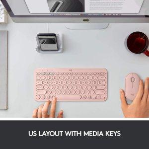 $39.99 (原价$49.99)史低价:Logitech K380 高颜值玫瑰金蓝牙无线键盘 Mac/IOS版